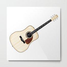 Pale Acoustic Guitar Metal Print