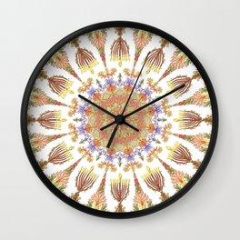 Candelar-Chanukkah mandala-light-judaica art-hand painted-bright colors Wall Clock