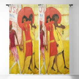 African American Masterpiece 'Sunday in the Park with Friends' by Florine Stettheimer Blackout Curtain