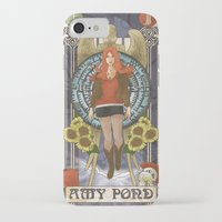 amy pond iPhone & iPod Cases featuring Amy Pond by hairwire