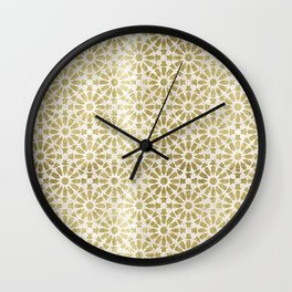 Hara Tiles Gold Wall Clock