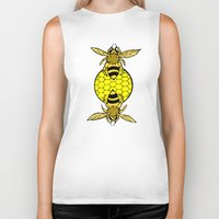 bees Biker Tanks featuring Bees by Chelsey Hamilton