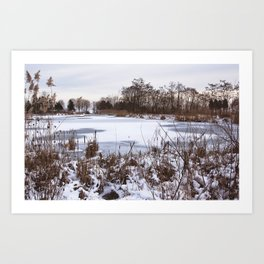 Scarborough Bluffs in Winter on December 27th, 2020. XI Art Print