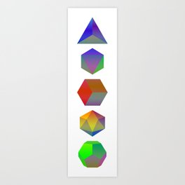 Platonic Solids Art Print