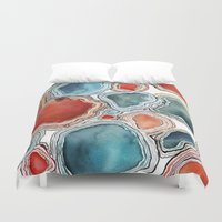 agate Duvet Covers featuring AGATE by Kelsey Eckstrom
