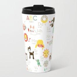 A is like apple Travel Mug