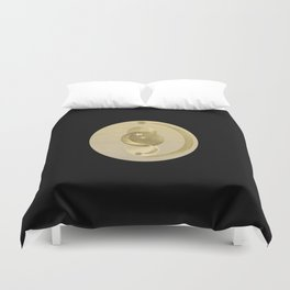 Black Gold Moon and Stars #1 #decor #art #society6 Duvet Cover