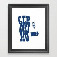 Geronimo Doctor Who Framed Art Print