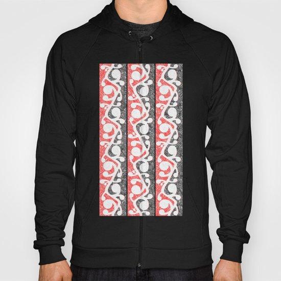 Maori Kowhaiwhai Distressed Pattern Hoody