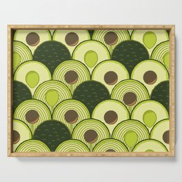 avocados in art deco Serving Tray