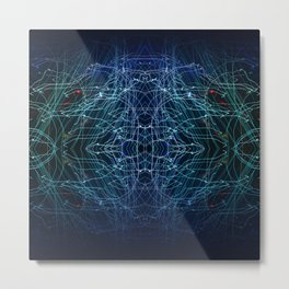 Energy Channels Metal Print