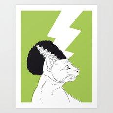 The Bride of Frankencat Art Print