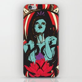 Medusa and The Lotus (Color) iPhone Skin