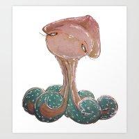 cutest octopus Art Print