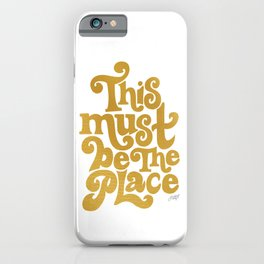 This Must Be The Place (Gold Palette) iPhone Case