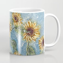 Watercolor Sunflowers,Watercolor Batik, Sunflower Art,Sunflower Flower Coffee Mug