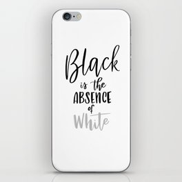 Absence of White iPhone Skin