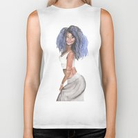 doll Biker Tanks featuring Doll by Marie Pascale L
