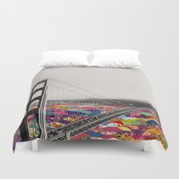 luna Duvet Covers featuring It's in the Water by Bianca Green