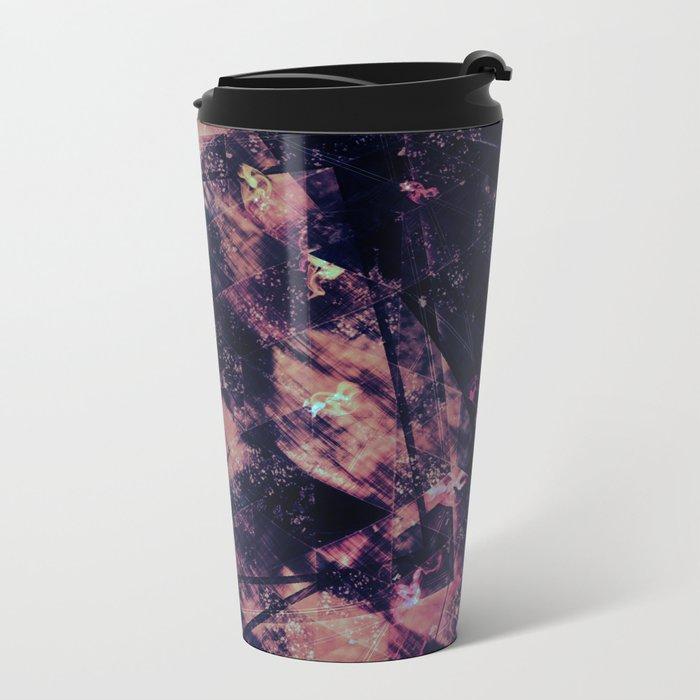 Abstract Geometric Background #15 Metal Travel Mug
