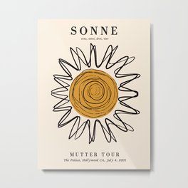 Exibition poster-Sonne 2001. Metal Print
