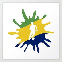 The Flag of Brazil II Art Print