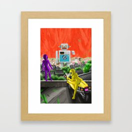 I LIKE BIG BOTS Framed Art Print