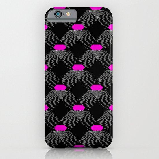 Geometric Pattern - BW & Pink iPhone & iPod Case