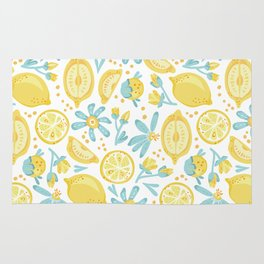 Lemon pattern White Rug