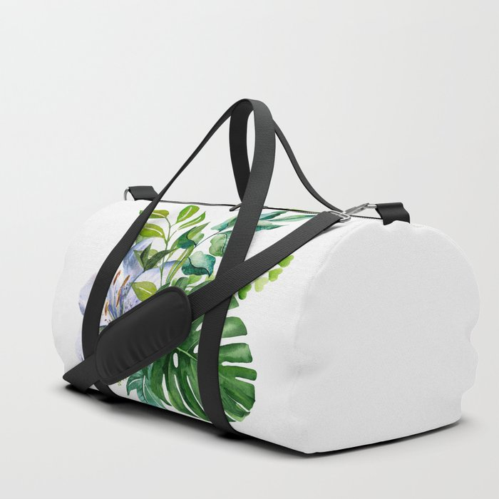 Flower and Leaves Duffle Bag