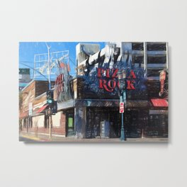 Pizza Rock Las Vegas - Colored Pencil Metal Print