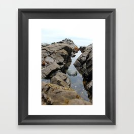 Rocky Water Framed Art Print