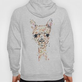 Llama Llama - Colorful Watercolor Painting Hoody