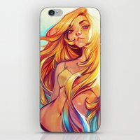 loish iPhone & iPod Skins featuring Summer by loish