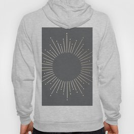 Simply Sunburst in White Gold Sands on Storm Gray Hoody