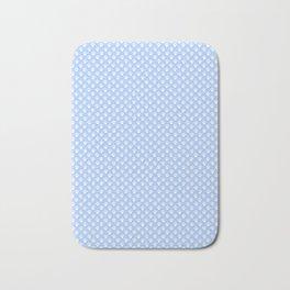 Tiny Paw Prints Powder Blue Bath Mat