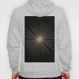 Strands Of Light 2 - Abstract, Spectral Pattern Hoody