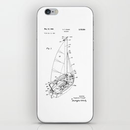 patent art Court Sailboat 1964 iPhone Skin