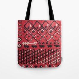 V22 Sheep herd Design Traditional Moroccan Carpet Texture. Tote Bag