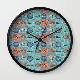 Fish Town Michigan Wall Clock