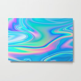 Holographic Iridescent Chill Vibes Metal Print