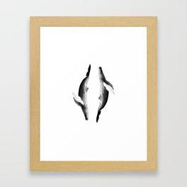 whale harmony Gerahmter Kunstdruck