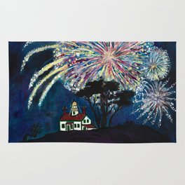 Crescent City Fourth of July ~ Battery Point Lighthouse Rug