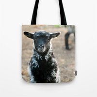 lamb Tote Bags featuring Lamb by hyycam