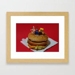 Late night snack Framed Art Print