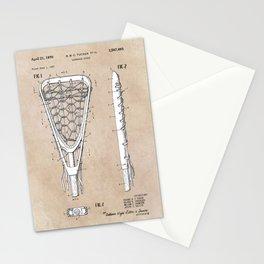 patent art Tucker Lacrosse stick 1967 Stationery Cards