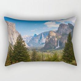 Bridalveil Fall Landscape, Yosemite Rectangular Pillow