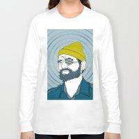 zissou Long Sleeve T-shirts featuring Steve Zissou by Chelsea Kepner
