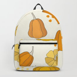 Orange and Yellow Pumpkins Backpack