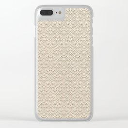 Blond Trellis Clear iPhone Case